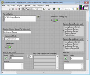 Okno Custom Device Template Tool